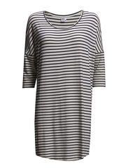 STRIPED JERSEY TUNIC - Ice