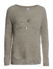 CAT SWEATER - Stone