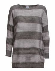 STRIPE SWEATER - C.Grey M