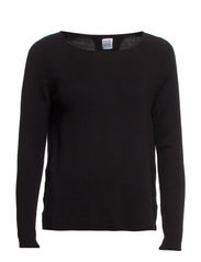 SWEATER WITH BACKPLEAT - Black