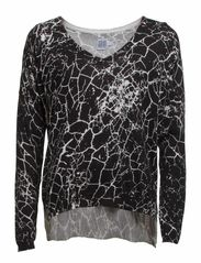 CRACK PRINT SWEATER - Black