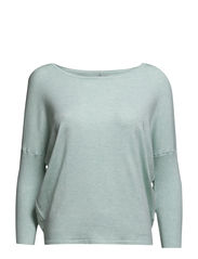 KNIT BLOUSE WITH RIB SLEEVES - C.Mint M.