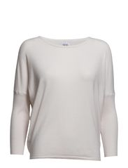 KNIT BLOUSE WITH RIB SLEEVES - Ice
