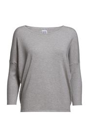 KNIT BLOUSE WITH RIB SLEEVES - M. Zink