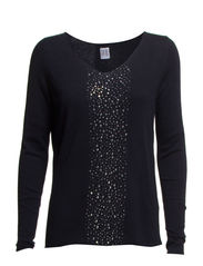 TIGHT SWEATER WITH STUDS - D.Navy