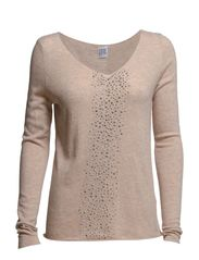 TIGHT SWEATER WITH STUDS - Sand M.