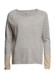 RAGLAN ZIP SWEATER - C.Grey M