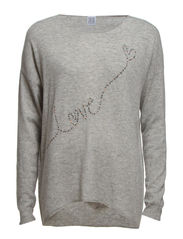 LOVE SWEATER - C.Grey M
