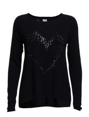 HEART SWEATER - D.Navy