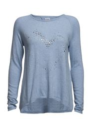 HEART SWEATER - Sky M.