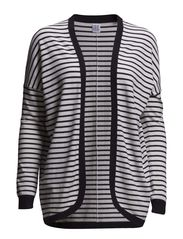 STRIPED CARDIGAN - D.Navy