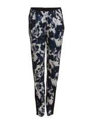 PANTS WITH ALL OVER PRINT - Black