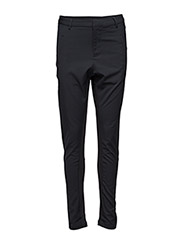 PANTS WITH RIB INSERTS - Black