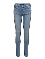 TIGHT FIT JEANS WITH POCKETS - P.BLUE