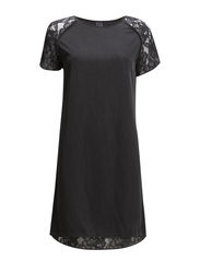 WOVEN DRESS WITH LACE - Tower