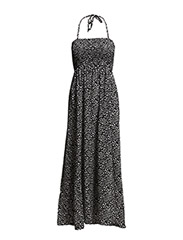 LONG DRESS WITH ALL OVER PRINT - Black