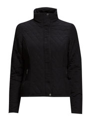 SHORT QUILT JACKET - Black