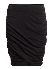 ELASTIC WRAP SKIRT - Black
