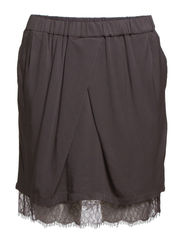 SKIRT WITH LACE HEM - Tower