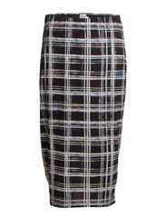 SKIRT, TUBE, PRINTED - Black