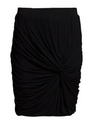SKIRT W. KNOT DETAIL - Black