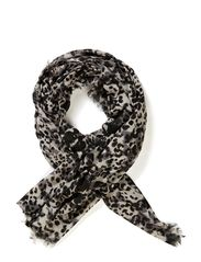 LEOPARD SPLASH PRINT SCARF - Ghost