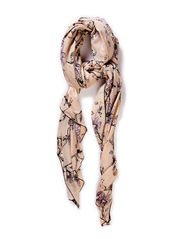 FLOWER PRINT SCARF - Toffee