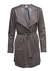 DRAPED JACKET - STEELGREY
