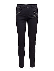 STRETCH PANTS WITH ZIPPERS - BL DEEP