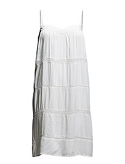 DRESS WITH LACE BAND - WHITE