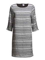 IKAT WOVEN DRESS - ICE