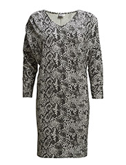 REPTILE PRINTED JERSEY DRESS - ICE