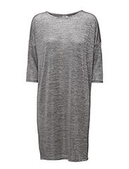 DRAPY ONECK DRESS - SILVER
