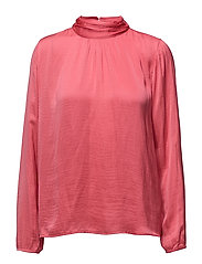 BLOUSE WITH HIGH NECK AND L/S - SUNBERRY