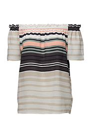 VARIEGATED STRIPE TOP - ICE