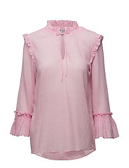 BLOUSE WITH SMOCK AND RUFFLES - P.ROSE