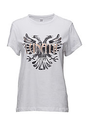 T-SHIRT WITH EAGLE PRINT - WHITE