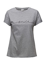 T-SHIRT WITH SMILE PRINT - C.GREY M
