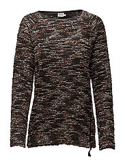 KNIT WITH FAUX LEATHER DETAIL - D.ROSE