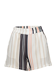 VARIEGATED STRIPE SHORTS - ICE