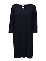 DRESS WITH NECK HOLE DETAIL - BLUE D.