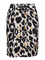 ANIMAL PRINTED SKIRT - P.MAUVE
