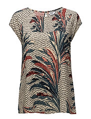 FEATHER PRINTED TOP - ORION B.