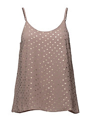 FOIL DOTTED TOP - FAWN