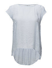 TOP W LACE INSERT - P.BLUE