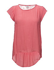 TOP W LACE INSERT - P.PINK