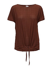PLEATED JERSEY TOP - CHERRY M.