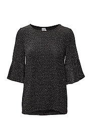 SHIMMER JERSEY W.CAP SLEEVES - SILVER