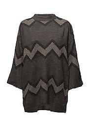 Saint Tropez - Wide Sleeve Knit Blouse