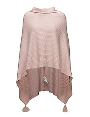 CABLE KNIT PONCHO - B.LILAC M.